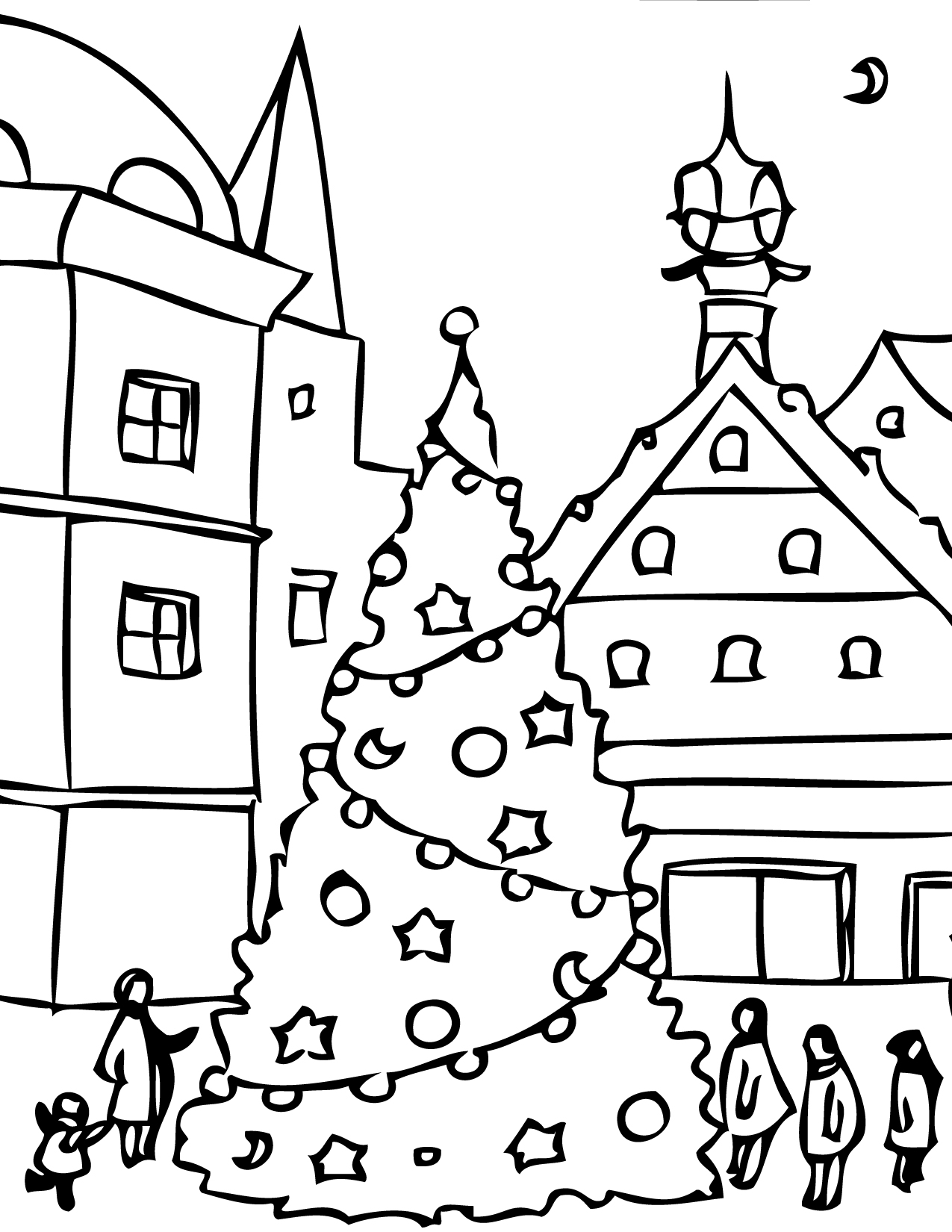 coloring pages christams - photo#24