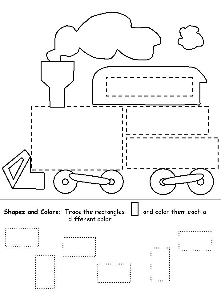 childrens coloring pages numbers shapes - photo#10
