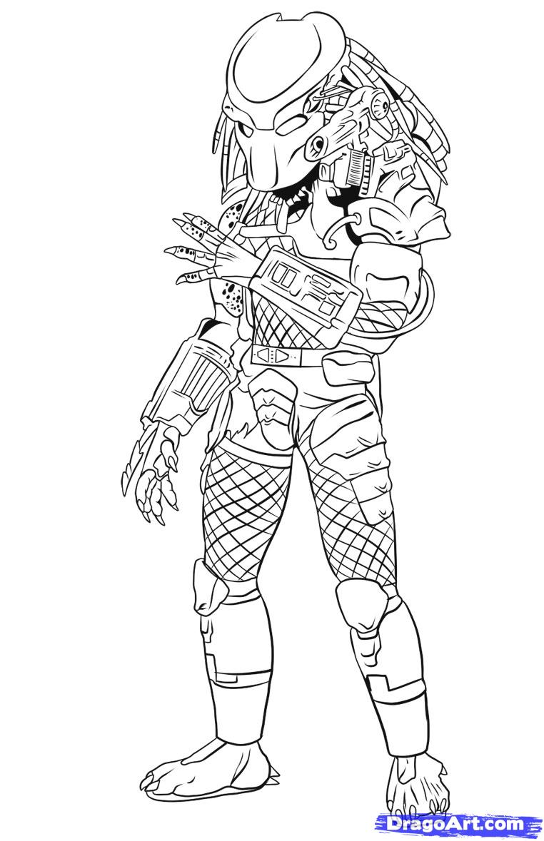 Predator coloring pages to download