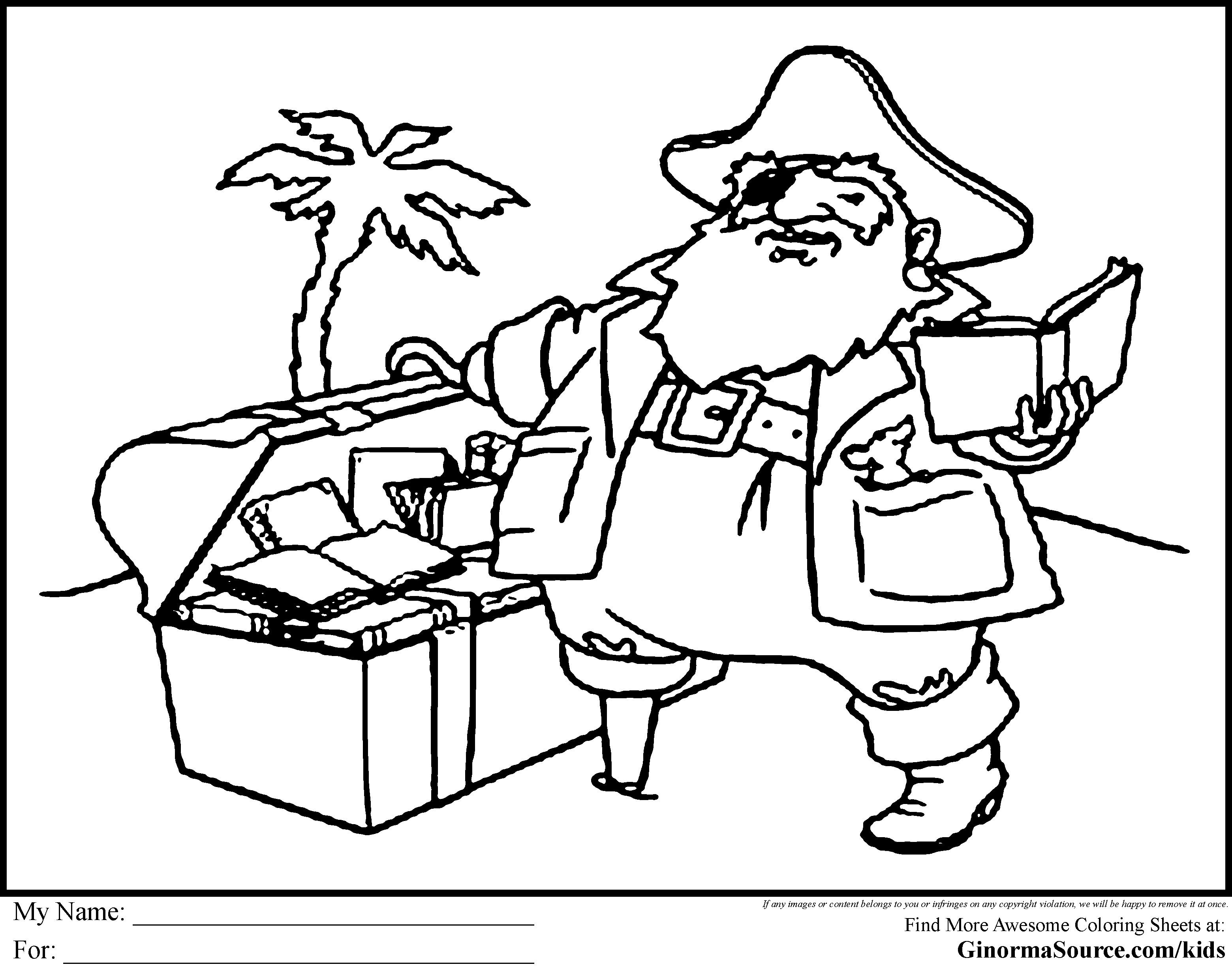 Pirate coloring pages to download and print for free for Pirate coloring pages for preschool