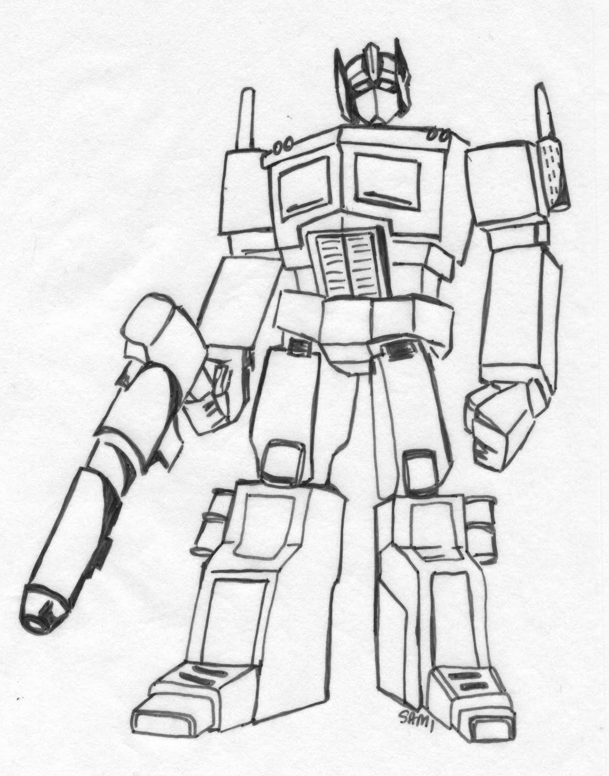 transformer coloring pages optimus prime | Optimus prime coloring pages to download and print for free