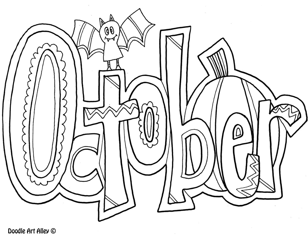 October coloring pages to download