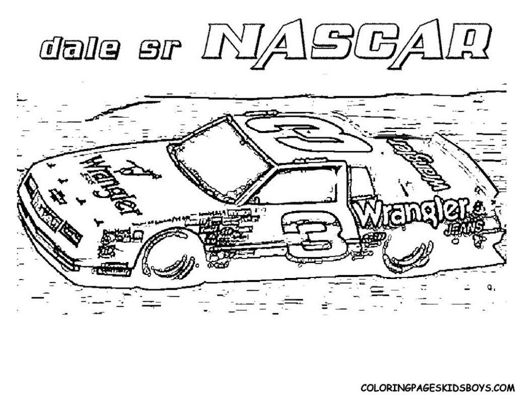 Nascar coloring pages to download
