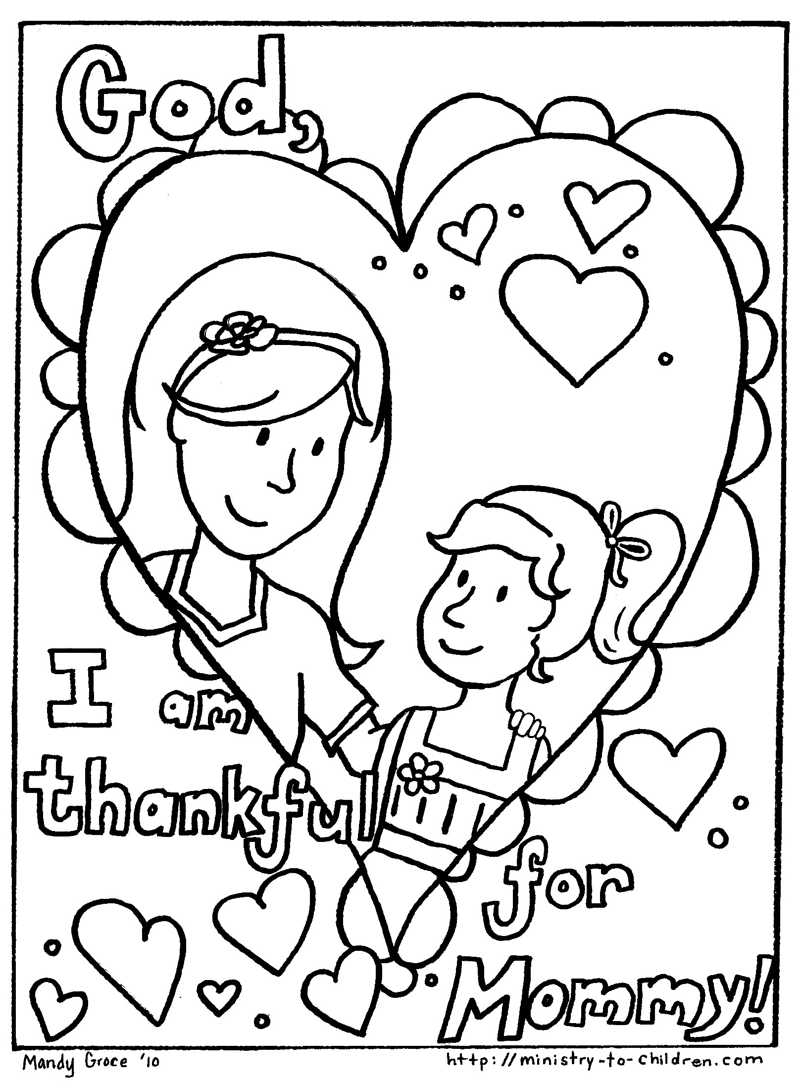 Mother day coloring pages to download