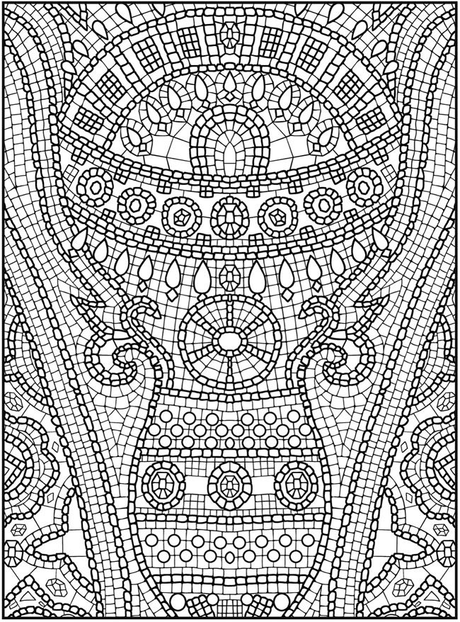 It's just an image of Breathtaking mosaic coloring pages