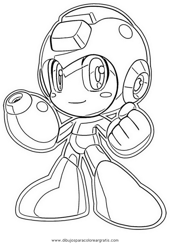 Mega man coloring pages to download
