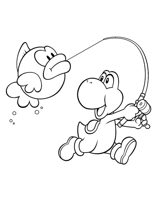 yoshi coloring pages to download and print for free