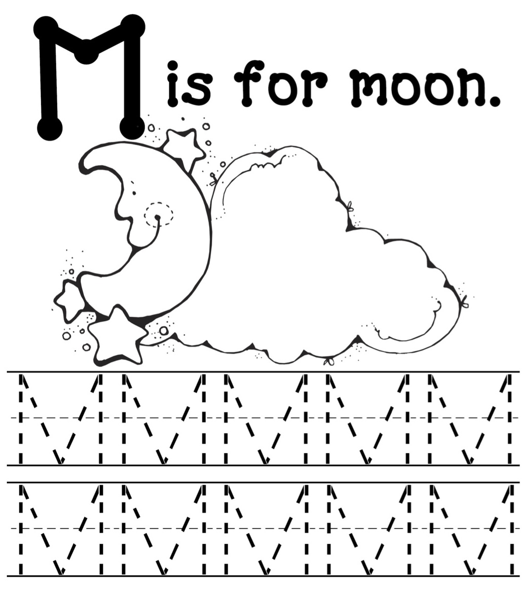 Coloring pages for letter m - Letter M Coloring Pages