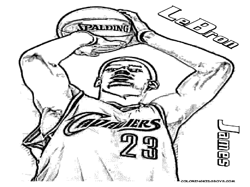 lebron james coloring page - photo #3