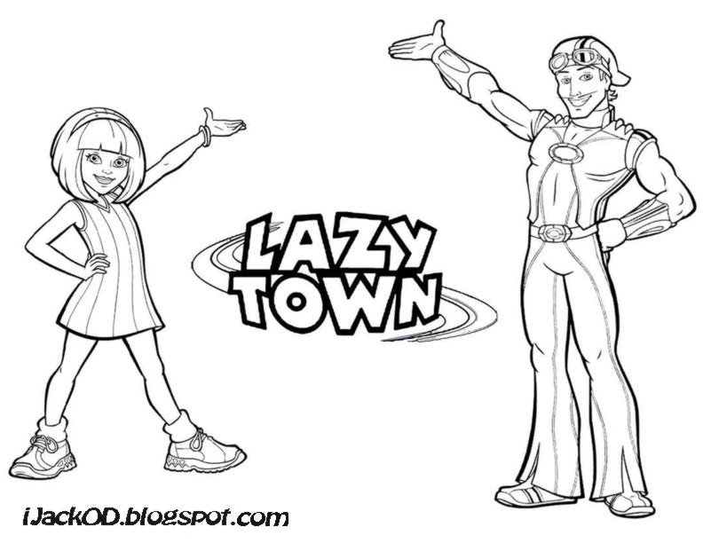 lazy town coloring pages to and print for free
