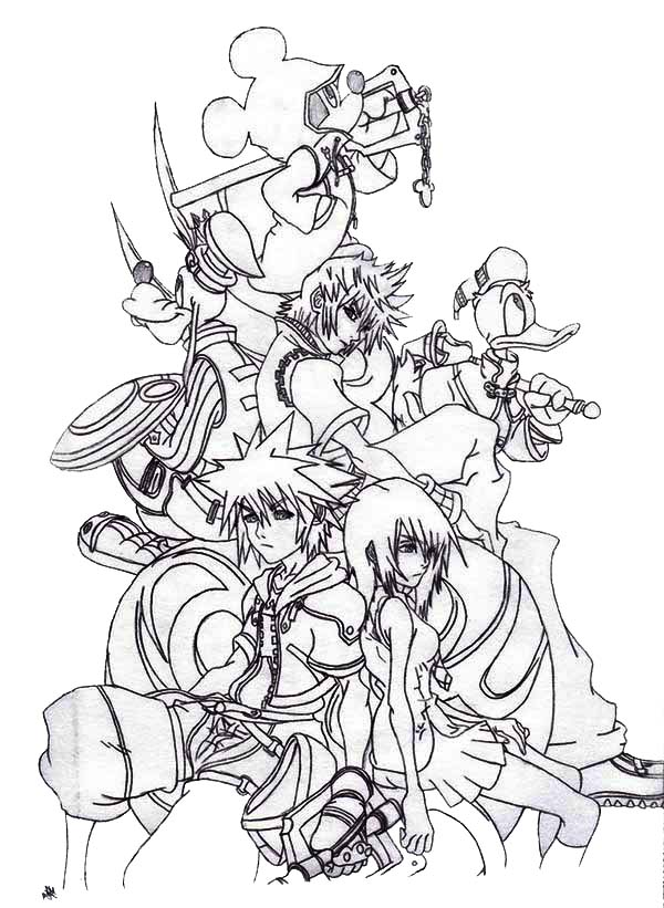 Kingdom hearts coloring pages to