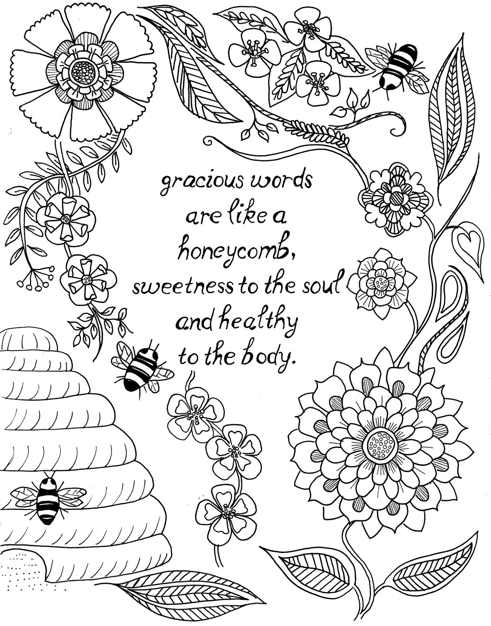 Inspirational coloring pages to
