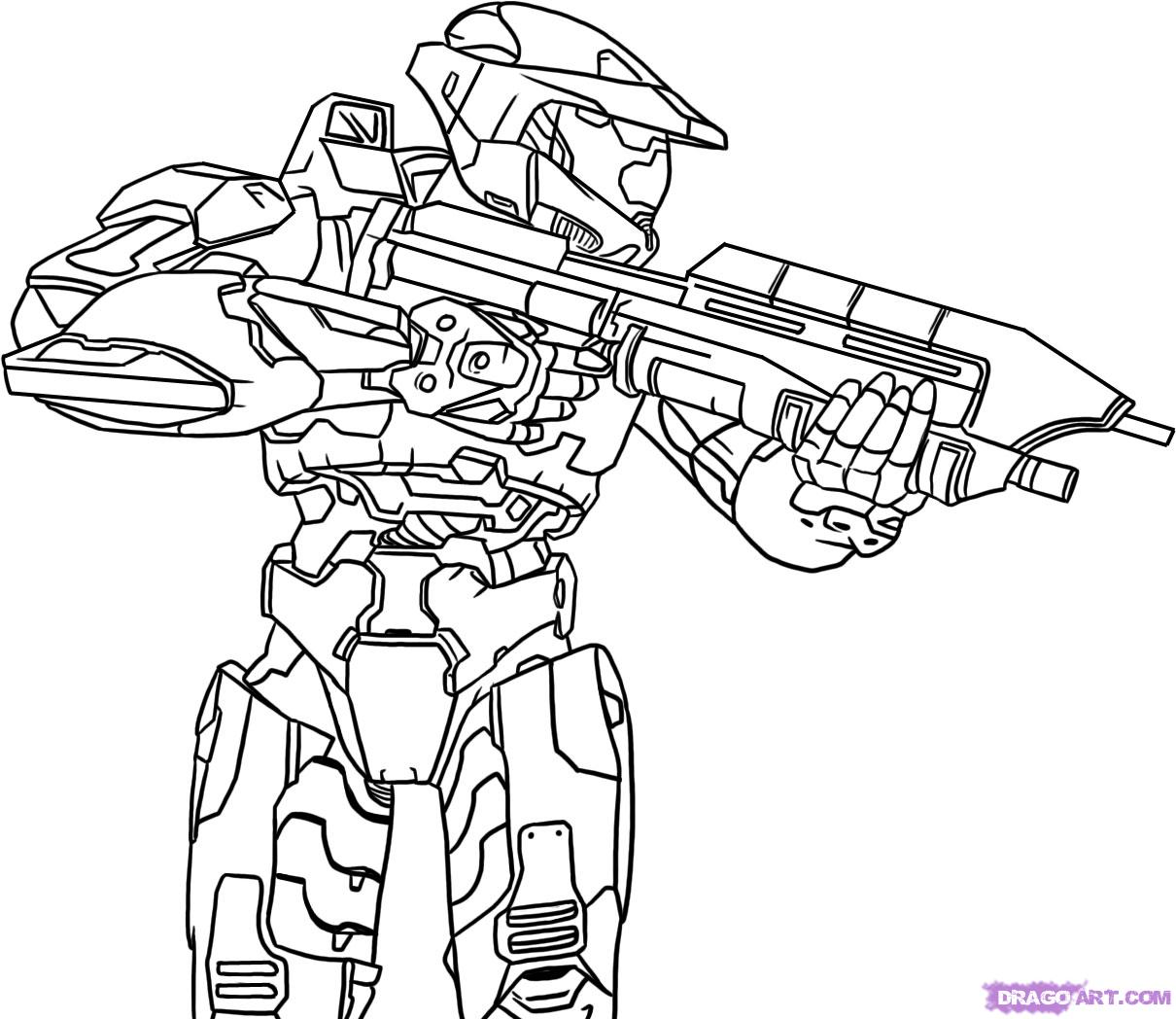 Best Website For Free Coloring Pages : Halo coloring pages to download and print for free