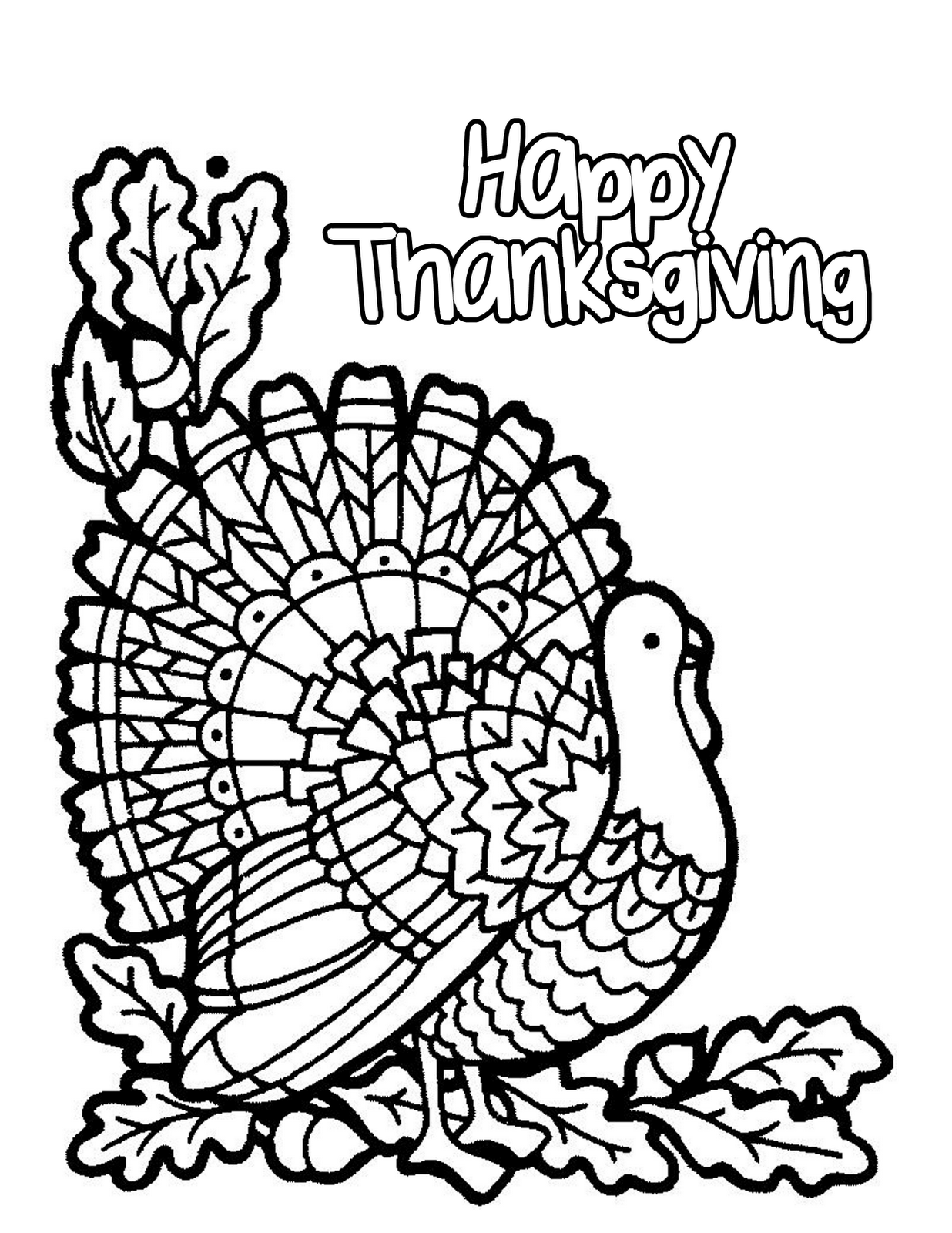 Happy thanksgiving coloring pages to download and print ...