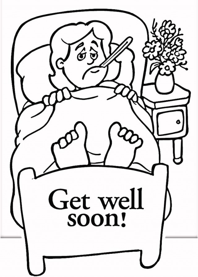 This is a photo of Modest Get Well Card Printable