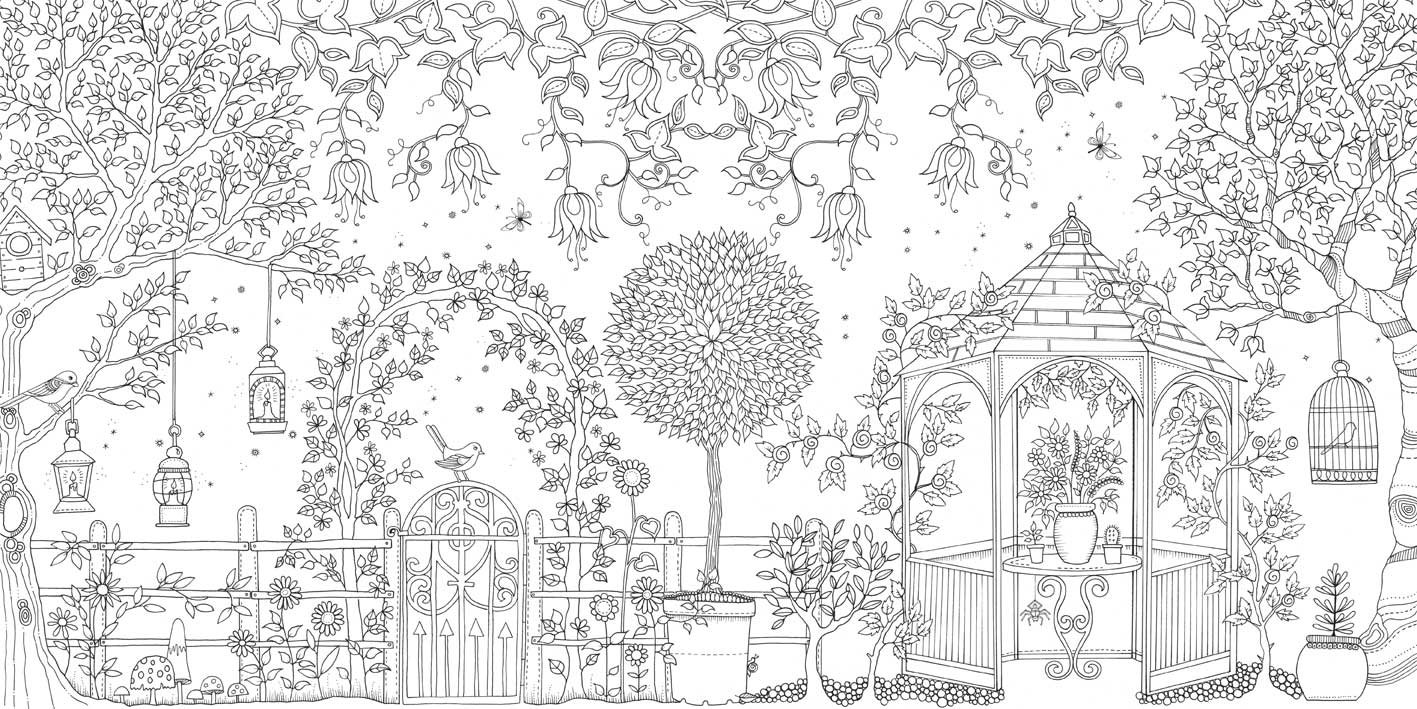 Free printable coloring pages gardens - Garden Coloring Pages