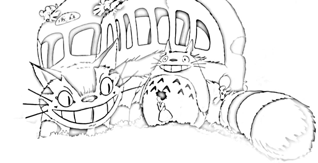 totoro coloring pages to download and print for free - Neighbor Totoro Coloring Pages