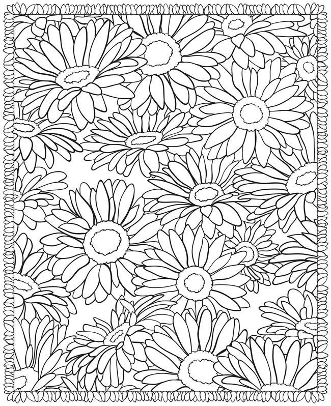floral print coloring pages flower coloring pages printable page