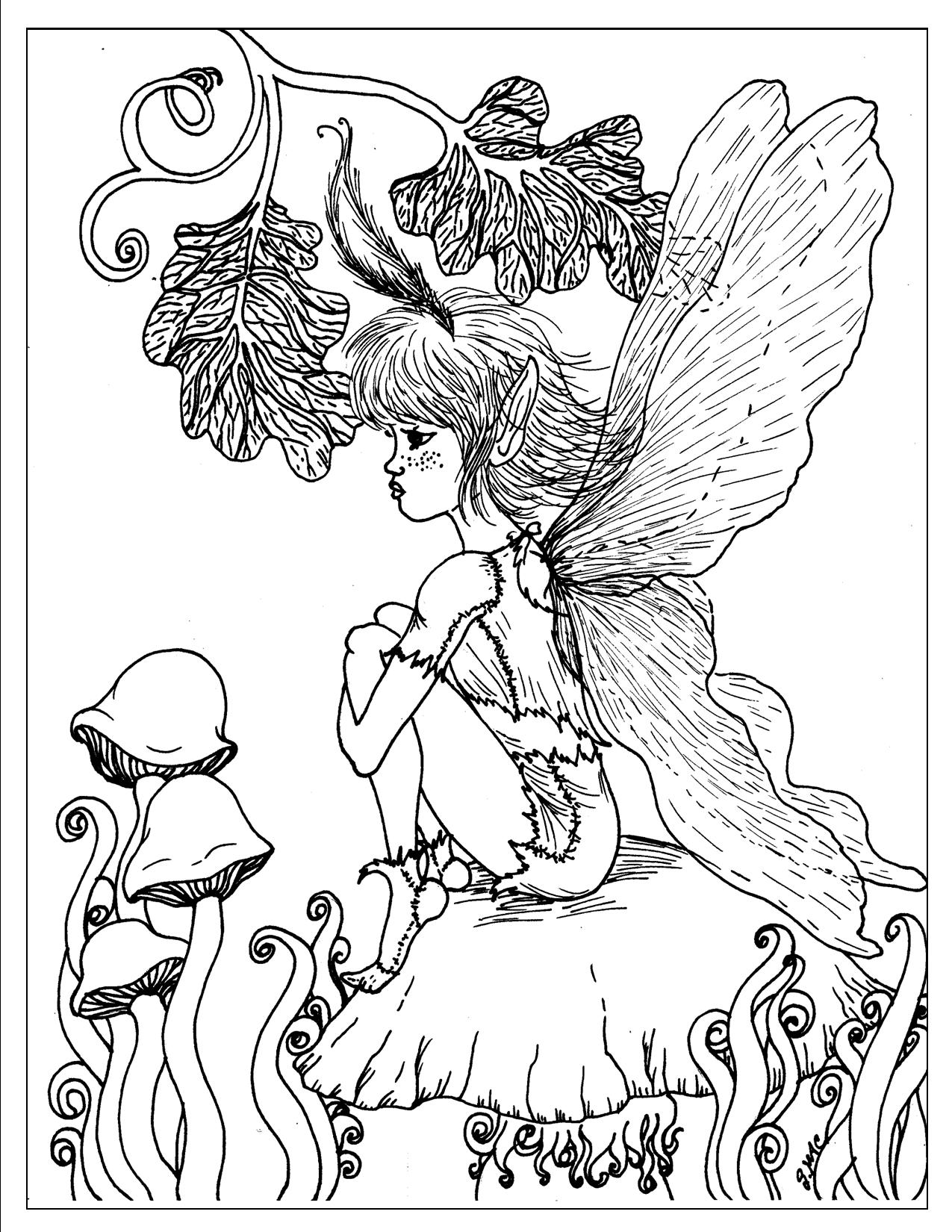fantasy coloring pages for adults to download and print for free