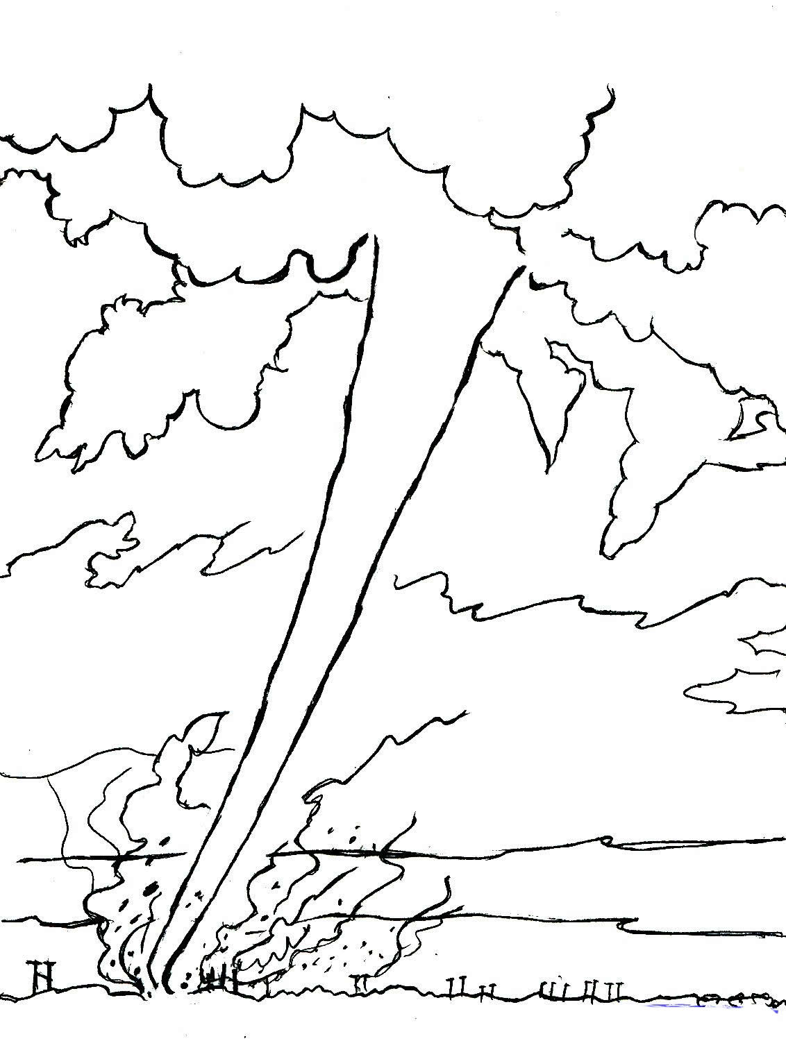 Tornado Coloring Pages To Download And Print For Free Tornado Coloring Page