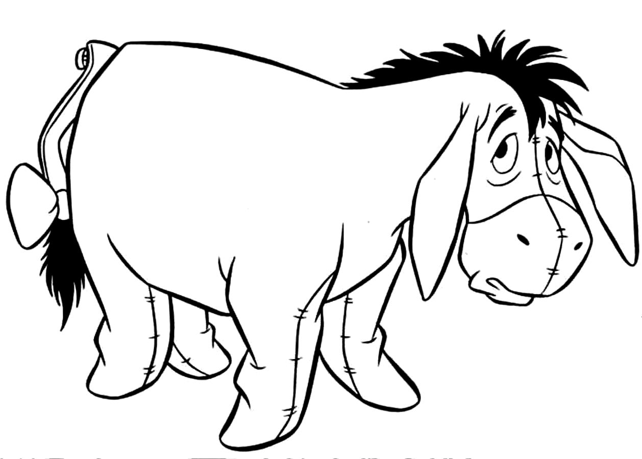 donkey coloring pages free donkey coloring pages to download and print for free