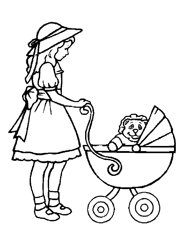 doll coloring pages - Baby Girl Coloring Pages Print