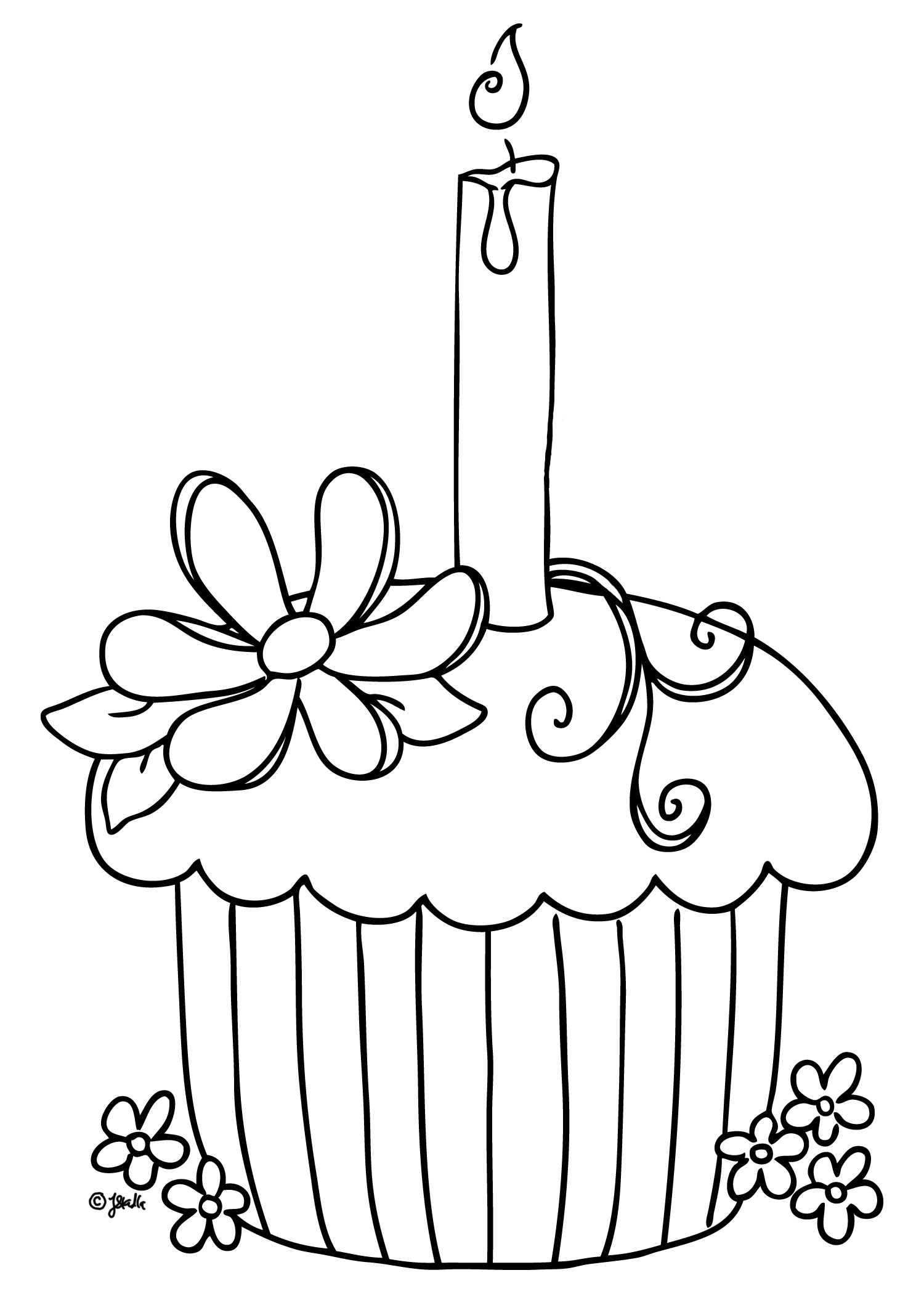 Dessert coloring pages to download