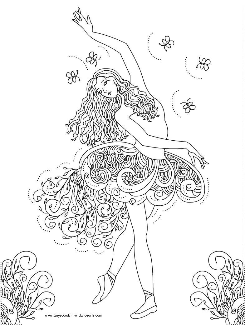 Dance coloring pages to download and print for free