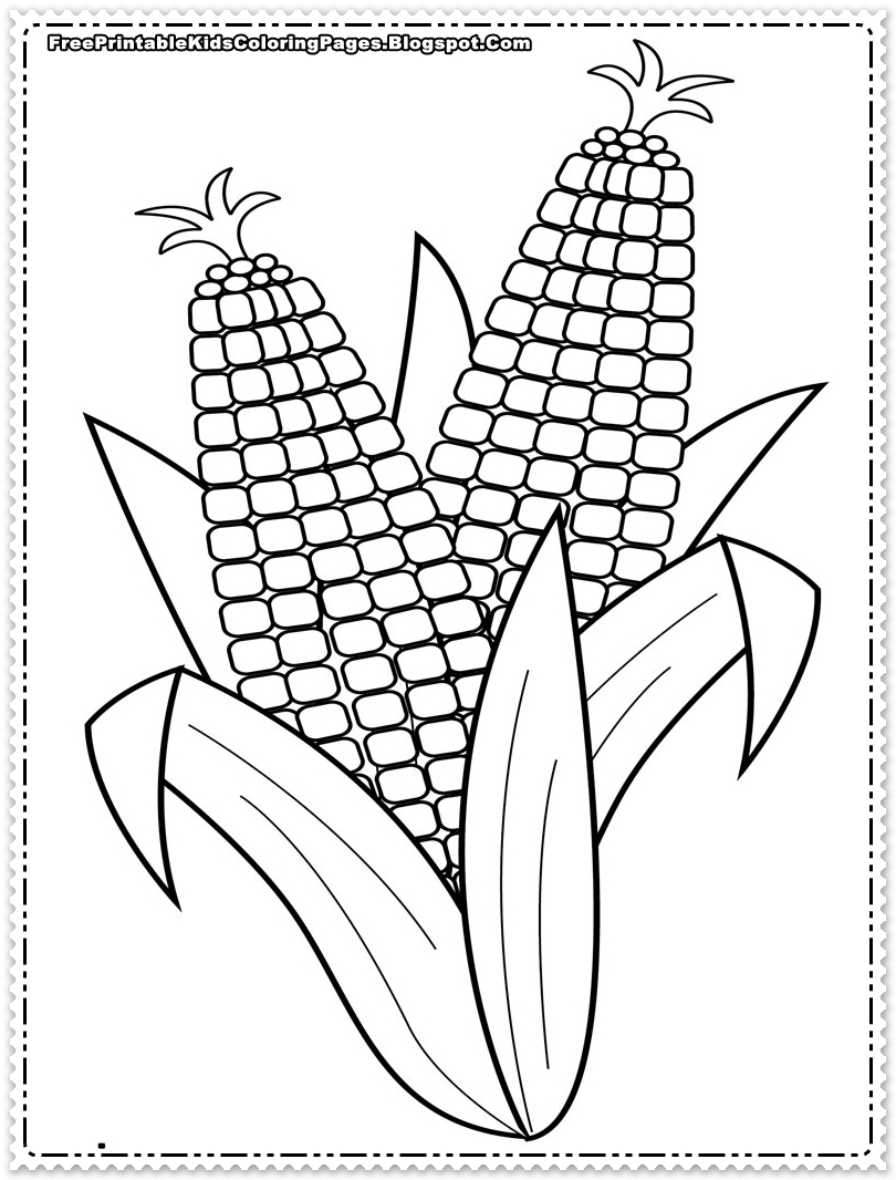 Corn coloring pages to download