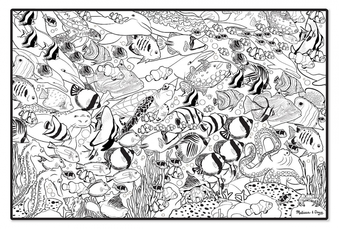 coral reef coloring book pages - photo#12
