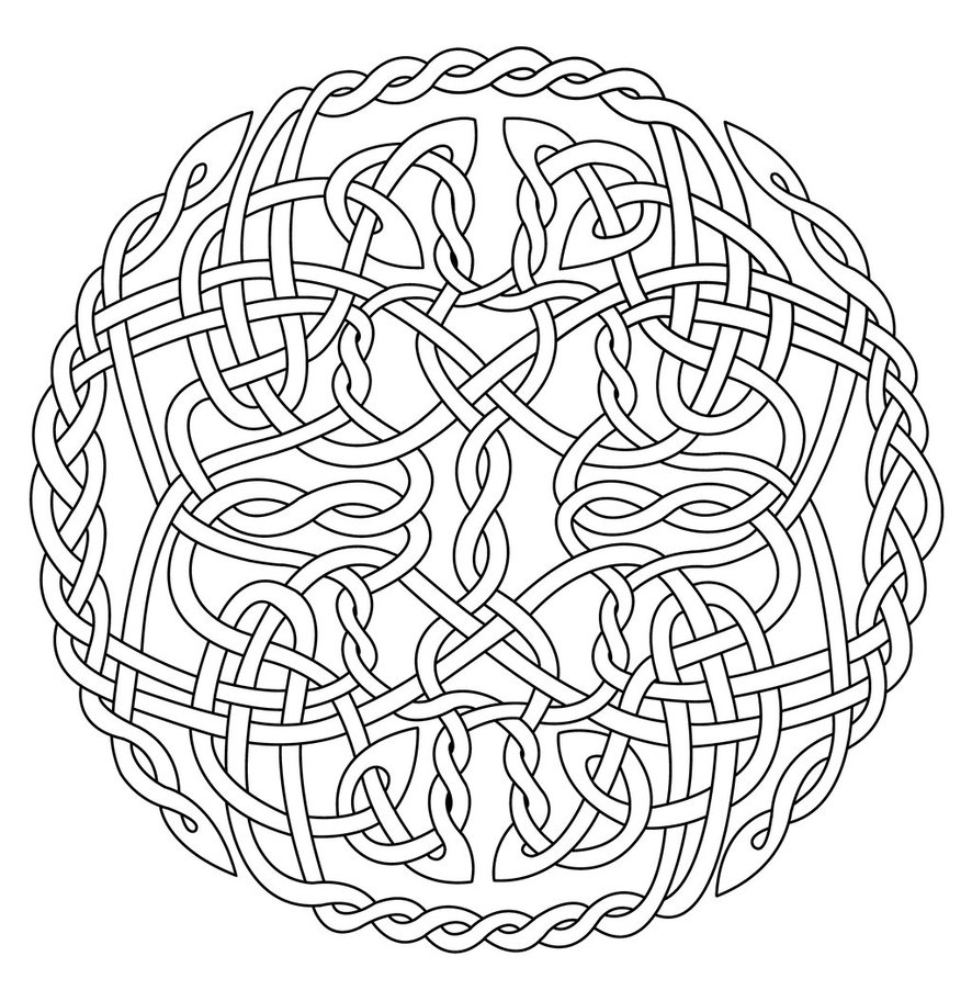Celtic knot coloring pages to download and print for free for Celtic coloring pages printable