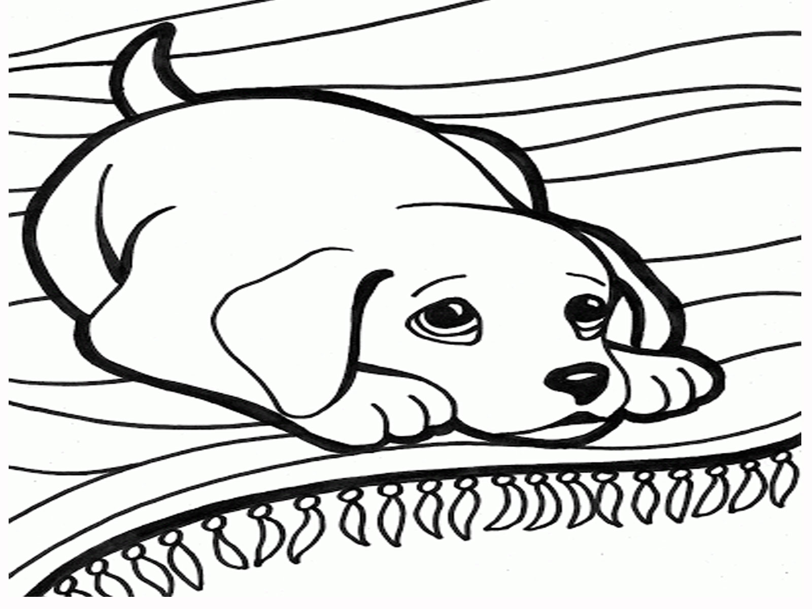 free coloring dog pages - photo#33