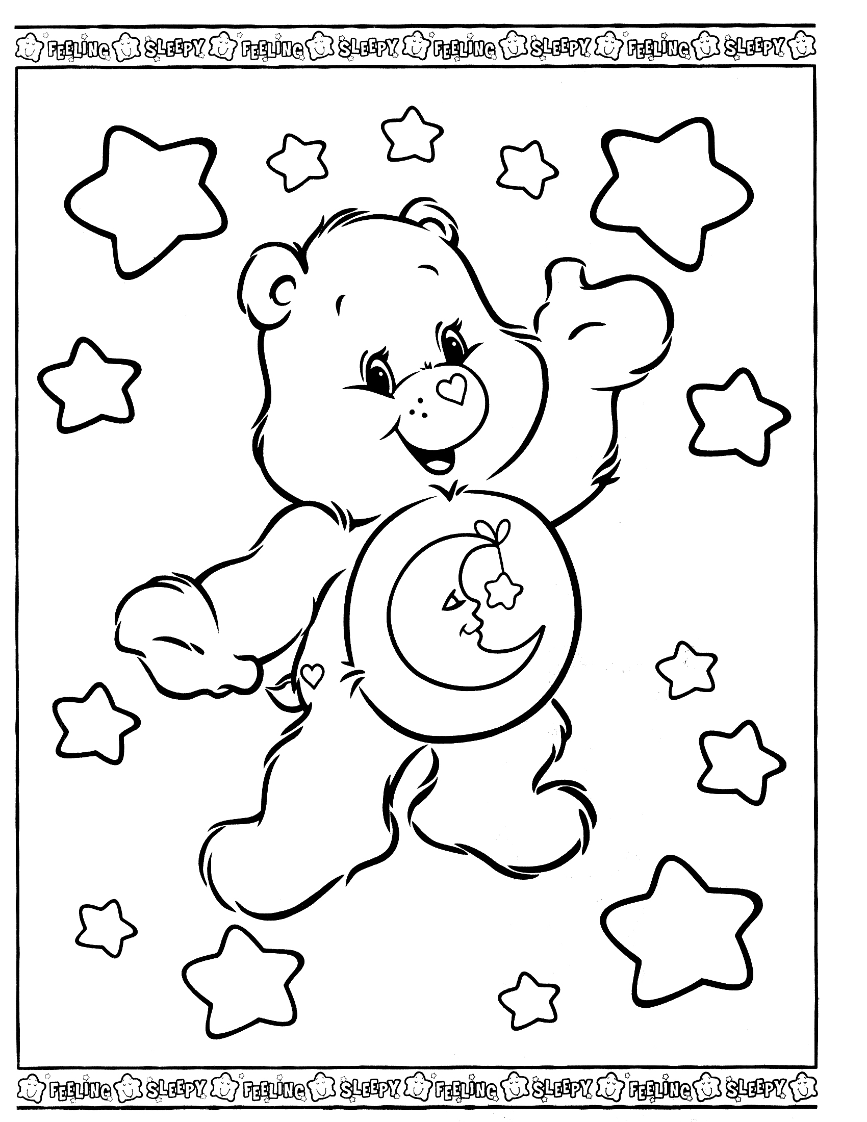 carebear coloring pages - photo#29