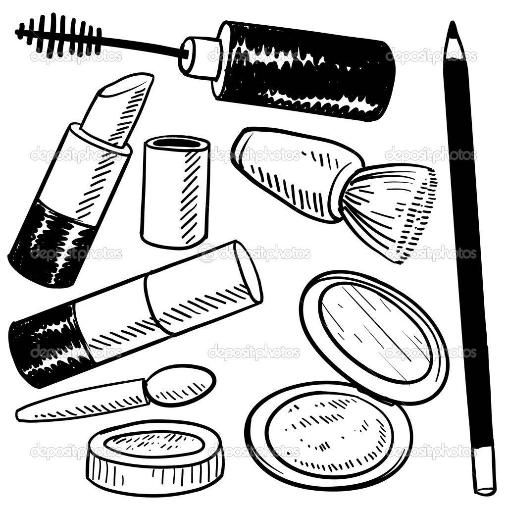 coloring pages for makeup - photo#7