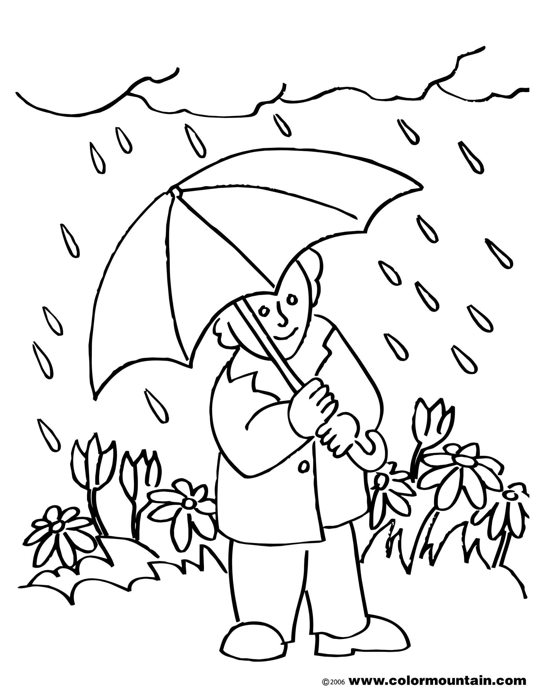 April coloring pages to and print for free