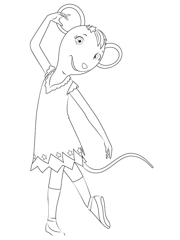 Angelina ballerina coloring pages to download and print for free