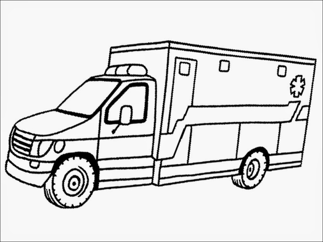 Dibujos De Ambulancias Para Colorear E Imprimir: Ambulance Coloring Pages To Download And Print For Free