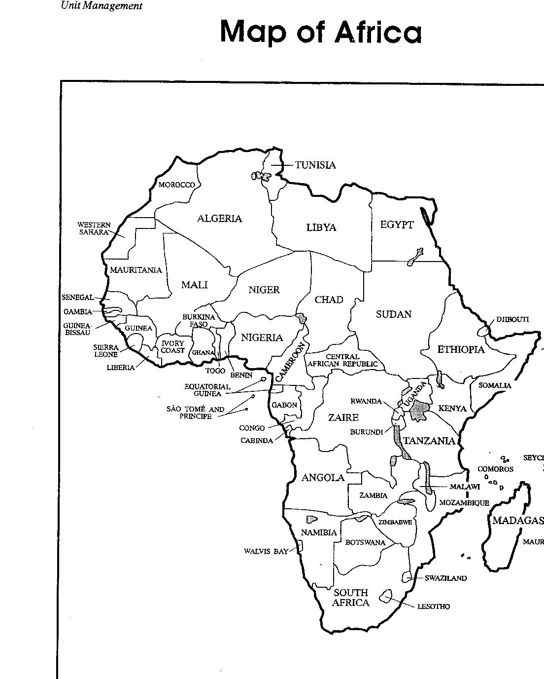 Africa coloring pages to download and print for free for Maps coloring pages