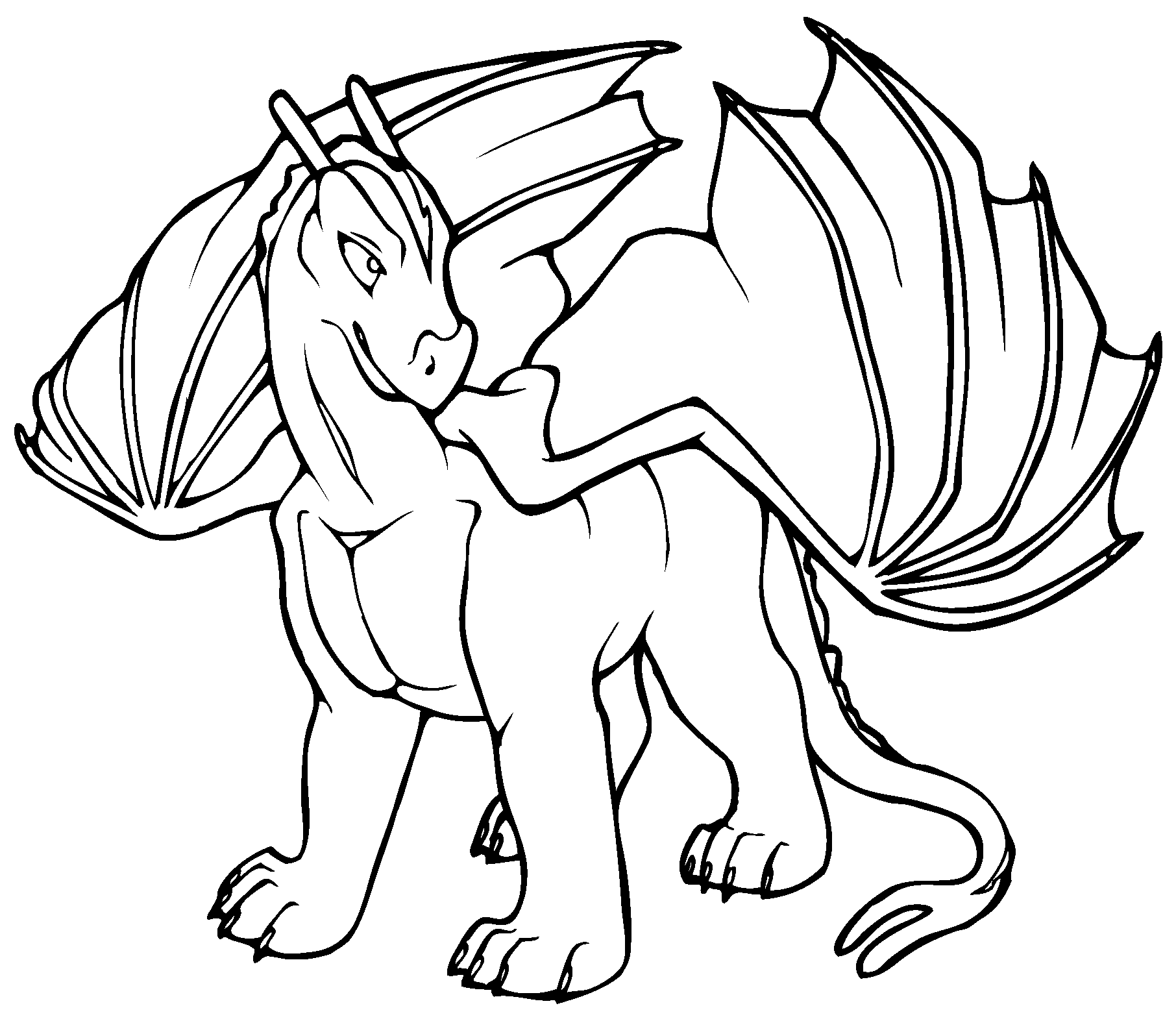 Zany image in printable dragon coloring pages