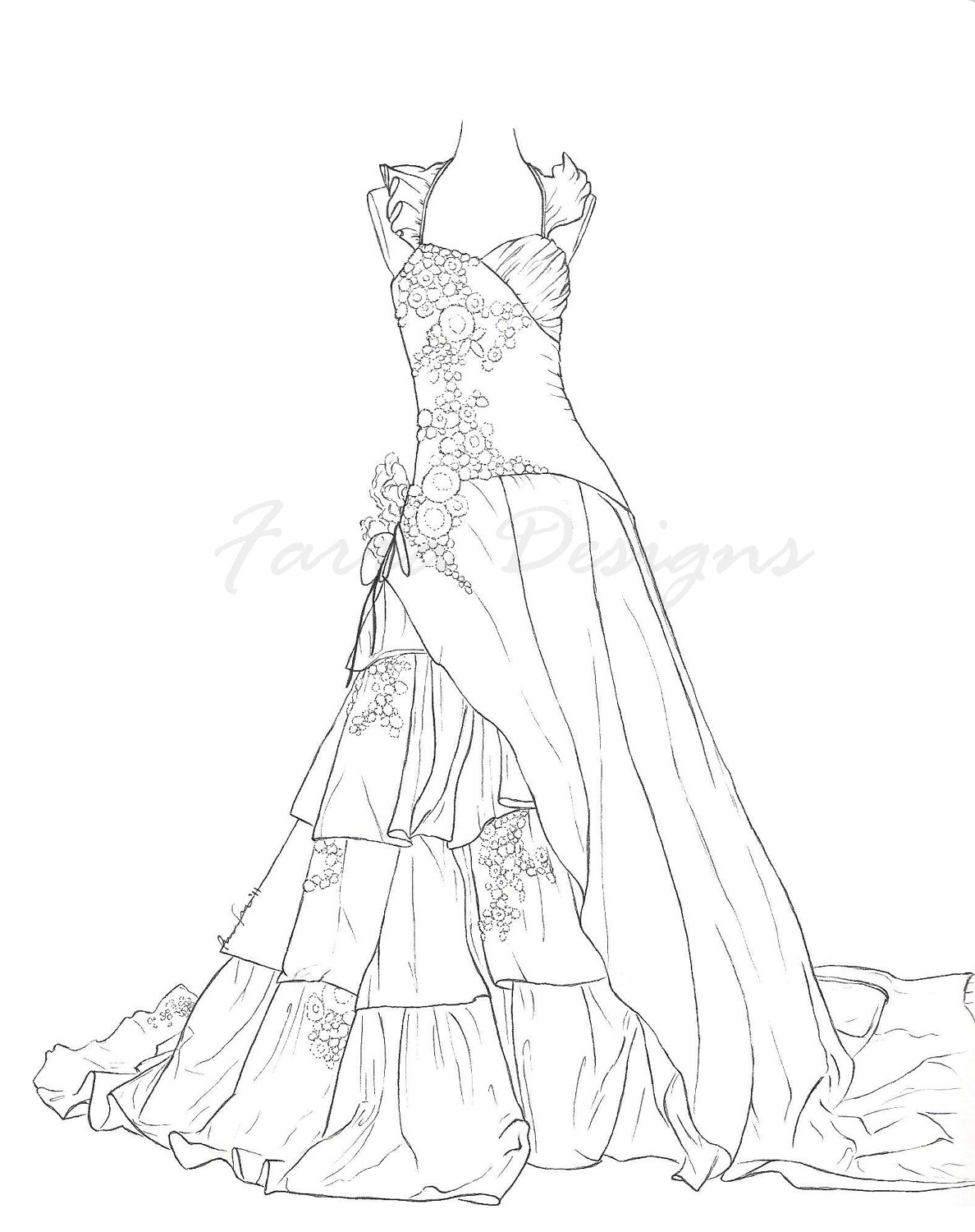 dress templates coloring pages - photo#40