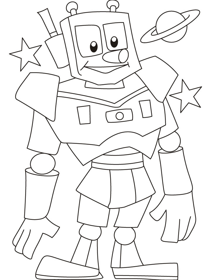 Little robots coloring pages download and print for free
