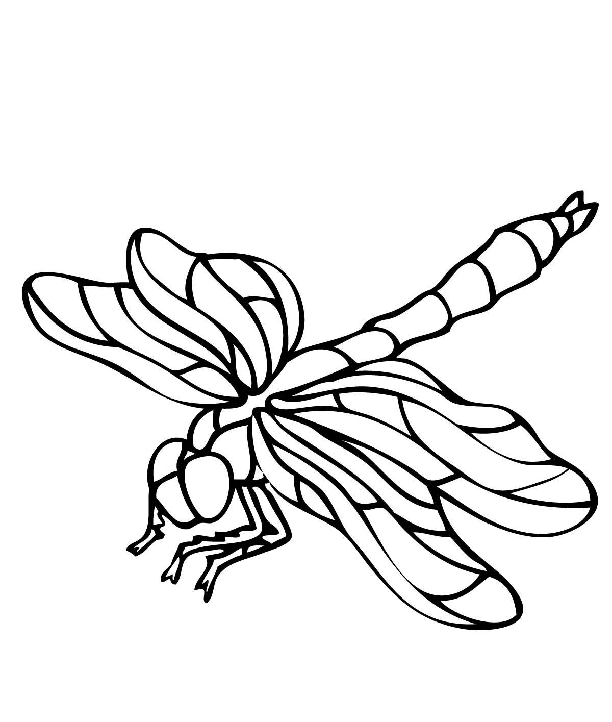Dragonflies coloring pages download and print for free