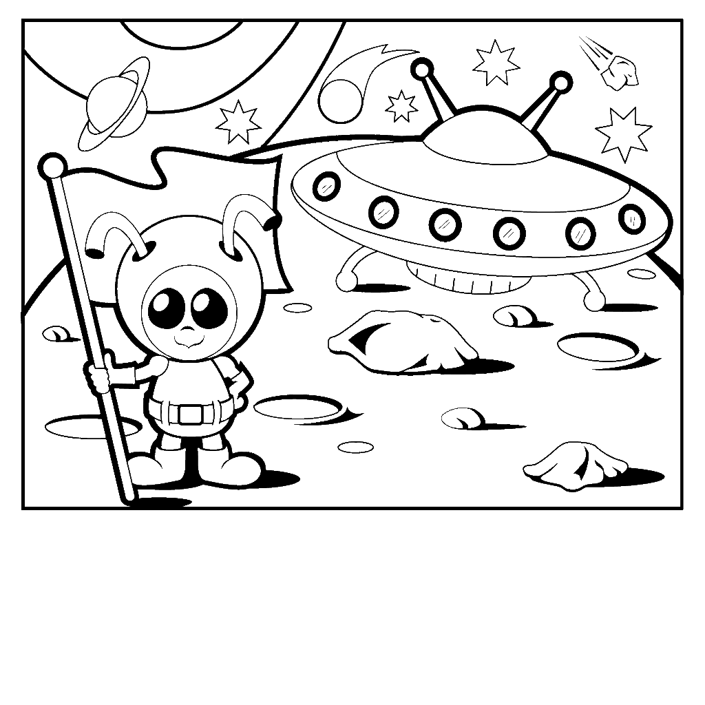 coloring pages aliens - photo#19