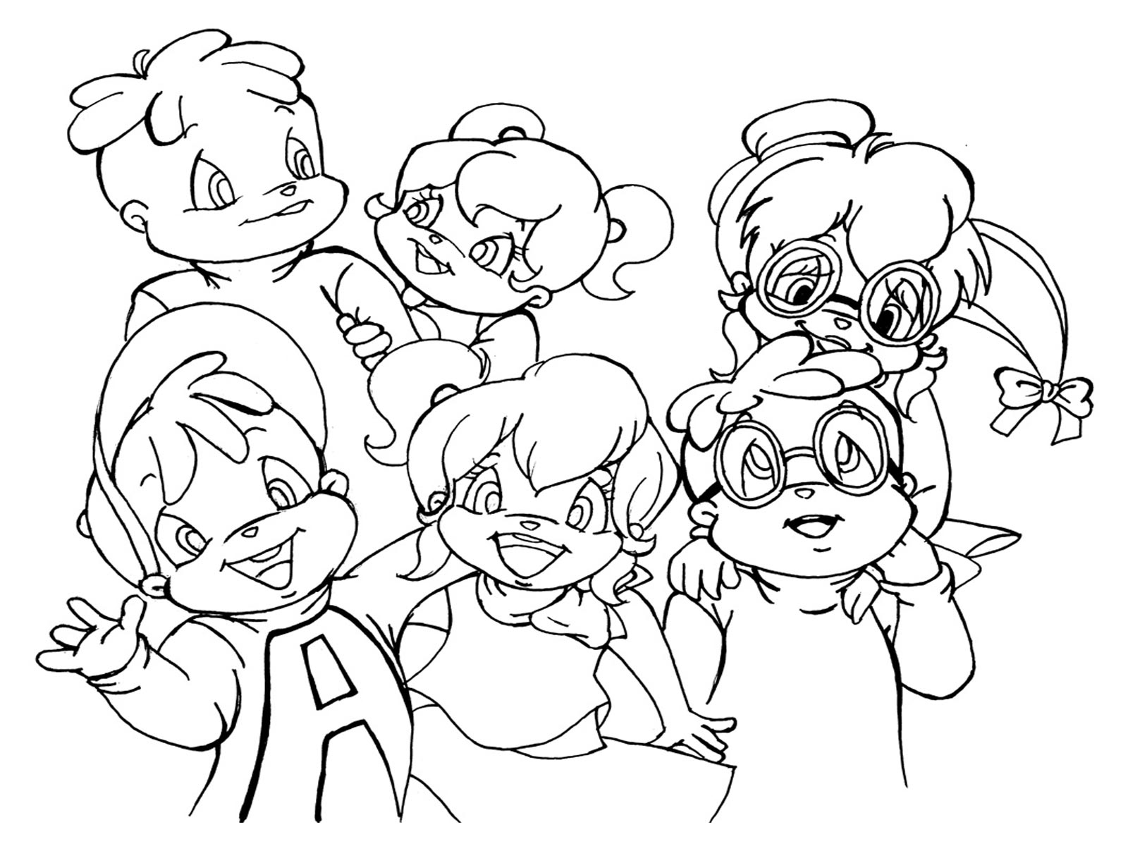 alvin chipettes coloring pages and print for free