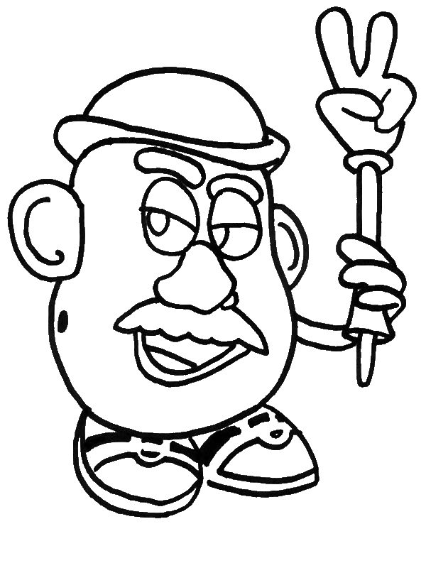 Mr Potato Head Coloring Pages To Download And Print For Free Mr Potato Coloring Pages