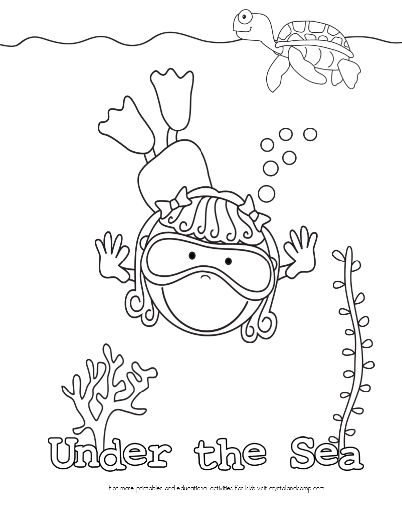 uner the sea coloring pages - photo#12