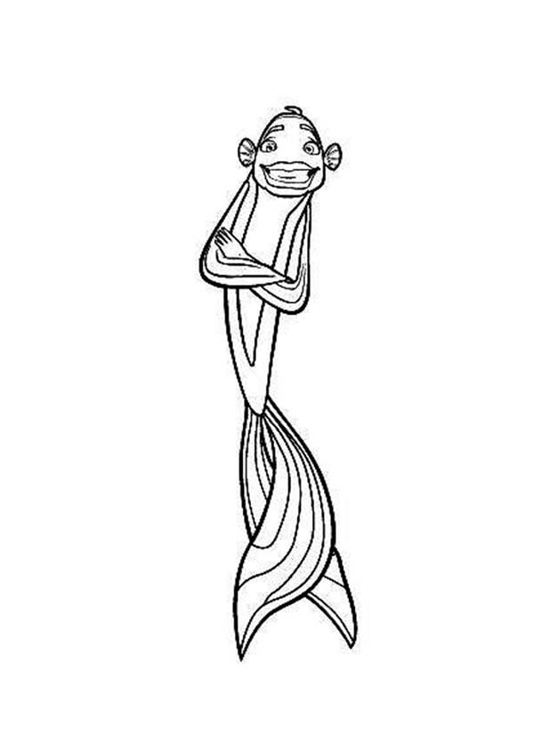 disney shark tale coloring pages - photo #8