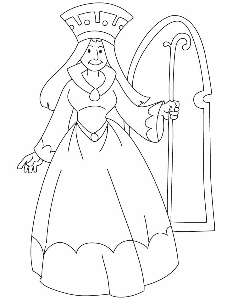 This is a graphic of Handy queen coloring pages