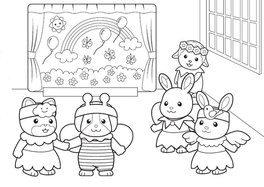 calico critters coloring pages printable - photo#8