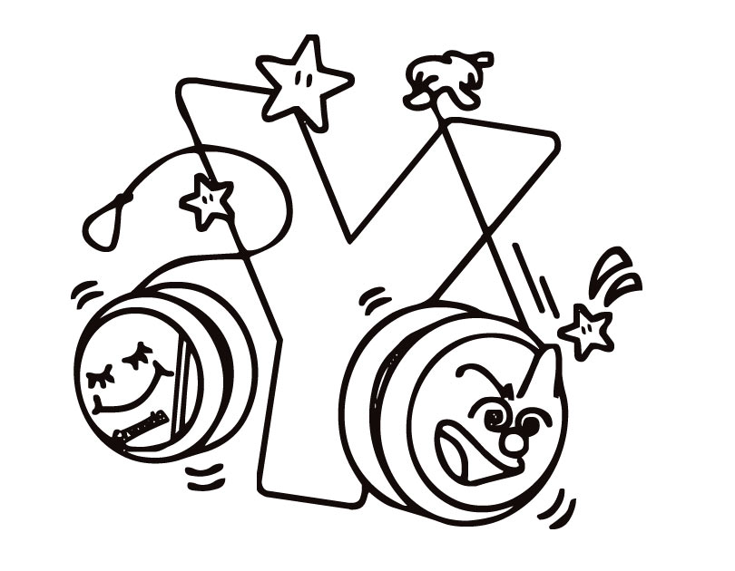 Letter Y coloring pages to download